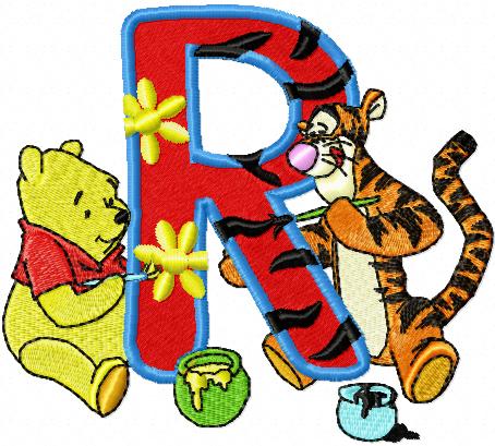 R Alphabet Design painting Alphabet Letter R